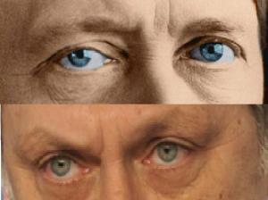 Ghiceşte ochii? Priviţi în albastrul lor oceanic şi malefic